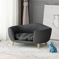 Tucker Murphy™ Pet Cauthen Mid Century Plush Dog Sofa & Reviews   Wayfair Mattress Covers, Bed Covers, Pet Barrier, Bunny Cages, Dog Sofa Bed, Cushions For Sale, Pet Gate, Dog Car Seats, Rabbit Hutches