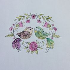 Kay colored in Joyous Blooms to Colored #elerifowler elerifowler.com
