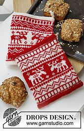 Ravelry: 0-869 Christmas pot holder with Nordic pattern in Muskat pattern by DROPS design