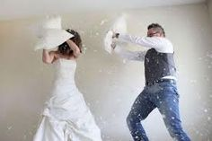 Pillow fight.. dye feathers first?