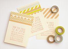 DIY Washi Tape Wedding Save the Dates - Whimseybox