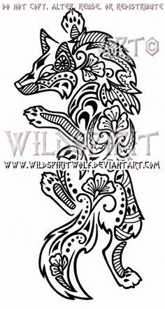 Climbing Henna Wolf Design by WildSpiritWolf.deviantart.com on @deviantART