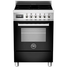 Buy Bertazzoni Bertazzoni Professional Electric Cooker With Induction Hob from Appliances Direct - the UK's leading online appliance specialist Electric Cooker, Electric Oven, Induction Range Cooker, Freestanding Oven, Heavy Duty Shelving, Grill Oven, Single Oven, Cooking Temperatures