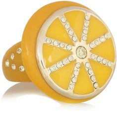 Marc by Marc Jacobs Sliced Citrus crystal and resin ring ($45) ❤ liked on Polyvore