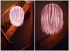 Rotkehlchen: DIY: Ikea-Upcycle - Streifenlampe