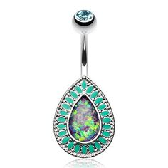 Sold Individually Grand Florid Opal Sparkle 316L Surgical Steel Freedom Fashion Belly Button Ring