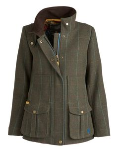 Joules Ladies' Tweed Field Coat – Balmoral O_FIELDCOAT