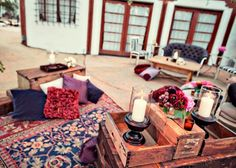 Love the rugs and lounge areas