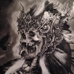 Decorative skull art