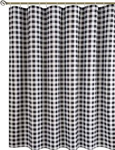 Pictures Of Bathroom Curtains - Pictures Of Bathroom Curtains, Have A Nice Shower with Nice Bathroom Curtains Fabric Shower Curtains, Bathroom Curtains, Buffalo Check Christmas Decor, Farmhouse Shower Curtain, Curtains Pictures, Laundry Room Layouts, Curtain Texture, Decor Logo, Black Curtains