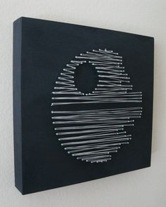 Star Wars Death Star Nail and String Wall Art Shelf Art