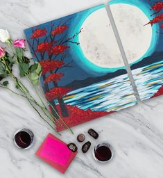Last-minute date idea: Date night-style paintings at Pinot's Palette. #dateidea #datenight #couplespainting