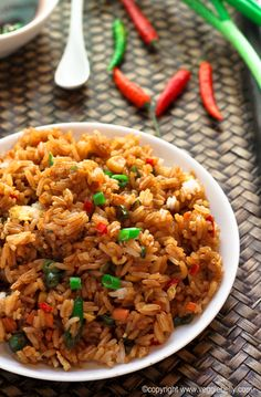 Fried Rice I love, but I replace the eggs with tofu.