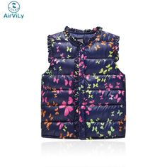 Girls Vests Children's Down Cotton Warm Vest Baby Girls Sweet Floral Waistcoat High Quality Kids Vest Outerwear 2-7 Years #>=#>=#>=#>=#> Click on the pin to check out discount price, color, size, shipping, etc. Save and like it!