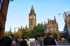 Town Hall in Albert Square - Manchester, England, UK