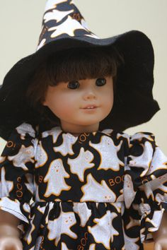 18 American Girl Doll Halloween Ghost Silver Dress by sewlucky42, $16.99