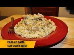 RECETA FACIL - POLLO EN PASTA CON CREMA AGRIA (Sour Cream)