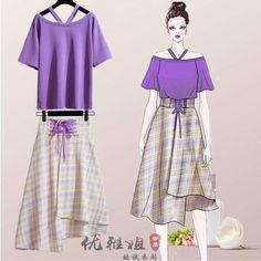 Fashion Art, Girl Fashion, Fashion Dresses, Womens Fashion, Dress Sketches, Dress Drawing, Fashion Design Sketches, Kawaii Clothes, Cheap Dresses