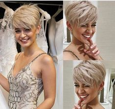 Elegant Short Blonde Pixie Hairstyles – Styles and more interesting things Hair Cuts For Over 50, Cute Short Haircuts, Short Sassy Hairstyles, Edgy Pixie Haircuts, Everyday Hairstyles, Very Short Hair, Long Hair, Brunette To Blonde, Brunette Pixie