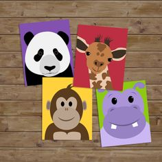 Safari Nursery Kids Art Safari Prints Baby Nursery by KryderPrints, $45.00
