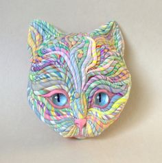 https://flic.kr/p/8aKUFj | Pastel Cat Sculpture | Original sculpture by me
