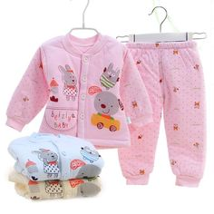 Todays SuperDeals for baby 50% off http://s.click.aliexpress.com/e/nyB2jqBur 2015 Autumn Winter Newborn Baby Clothes Set 2PCS Cotton Baby Boy Clothes Winter Girl Baby Clothing Sets infant clothing