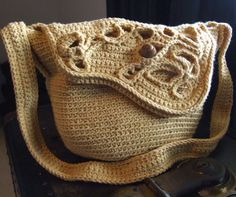 Freeform Bag  crochet - love the plain and freeform combo - maybe freeform handle too...