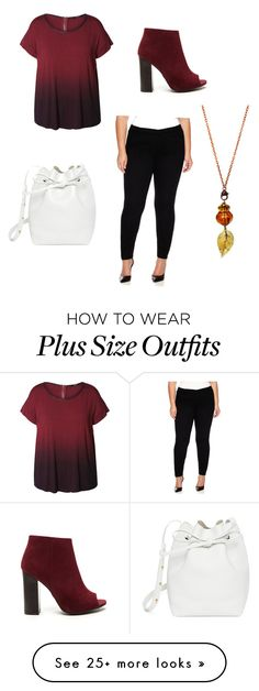 """""""Plus Size ~ Autumn"""" by stephanieclarex on Polyvore featuring Dex, St. John's Bay, Mansur Gavriel and plus size clothing"""