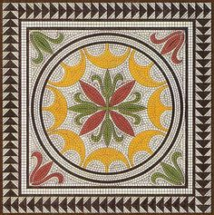 Antique Mosaic Design ~ Tilework from Pompeii . . . | Content in a Cottage