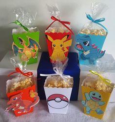 Pokemon Go Snack Boxes – Set of 10 - Pokemon Ideen Pikachu Party, Pokemon Party Bags, Festa Pokemon Go, Pokemon Candy, Pokemon Themed Party, Pokemon Craft, Pokemon Pokemon, Panda Birthday Party, Pokemon Birthday
