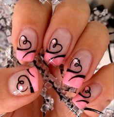 80 beste Valentinstag-Nägel-Kunst entwirft 2019 - Today Pin - New Ideas Valentine Nail Art, Valentines Design, Heart Nail Designs, Nail Art Designs, Nails Design, Design Design, Fingernail Designs, Nail Designs With Hearts, Design Ideas