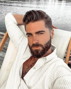 Celebration of the Male Beauty: Photo Selfie Sexy, Latest Haircuts, Haircuts For Men, Moustaches, Hairy Men, Bearded Men, Different Beard Styles, Handsome Faces, Great Hairstyles