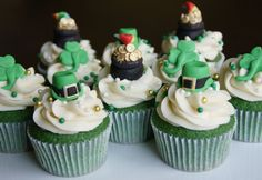 luck of the Irish green velvet cupcakes by Mili's Sweets