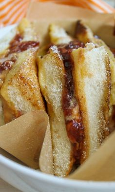 Peanut Butter & Jelly French Toast Sandwich is perfect for National Peanut Butter & Jelly Day!