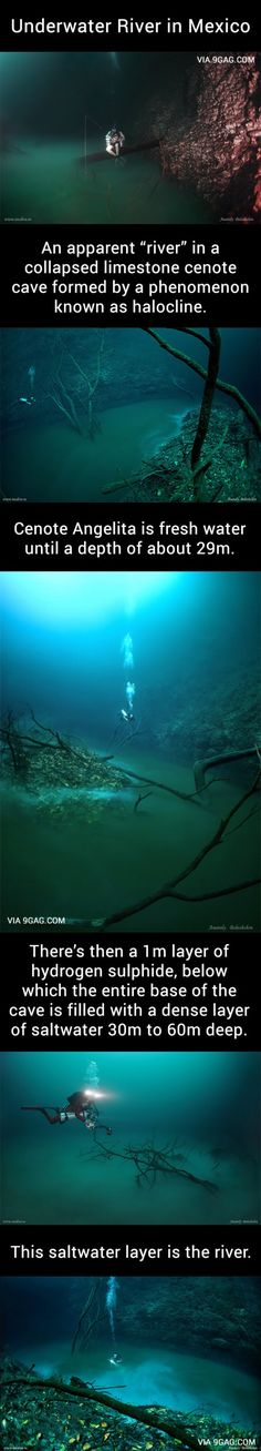 Underwater River in Mexico