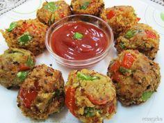 Maayeka: Spicy Jingle Balls /Bread and Bell Pepper Balls