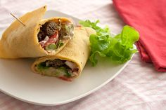 Roll up these Chickpea Wraps for a great gluten-free alternative!