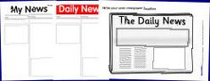 Printable Newspaper Templates from SparkleBox   Creating Newspapers in the Classroom   Scoop.it