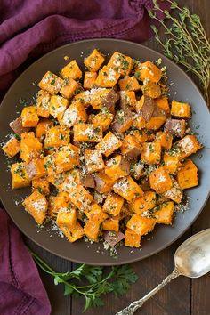 Garlic Herb Roasted Sweet Potatoes | Cooking Classy