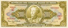 Cédula de 200,00 cruzeiros, Estampa 2ª, série 48ª, número 025260, flor d e estampa.