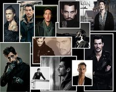 Reference for my character Sergei. Eric Balfour, David Gandy, a model, John Rhys Meyers, and Adrien Brody
