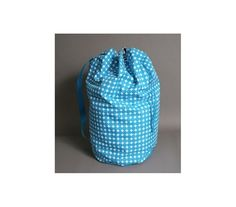 Polka Dot Laundry Tote - Ocean Blue