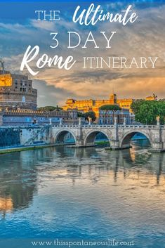 The Ultimate 3 Day Rome Itinerary - Are you planning your first trip to the Eternal City? Then check out my latest post on all the best things to do in Rome Italy with this amazing 3 day Rome itinerary! italy travel tips Italy Travel Tips, Rome Travel, Travel Europe, Europe Train, Travelling Europe, Travel Abroad, European Travel, Budget Travel, Italy Tourism