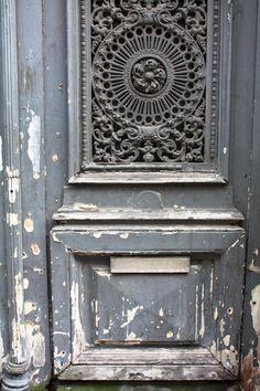 grey paris door #paris #rebeccaplotnick