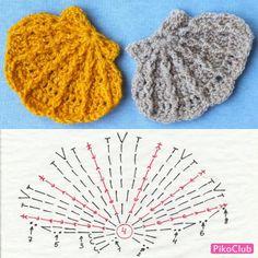 Crochet Fish, Form Crochet, Easter Crochet, Crochet Diagram, Thread Crochet, Crochet Motif, Diy Crochet, Crochet Crafts, Crochet Flowers