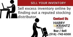 Want to make room for new inventory in your warehouse and you do not have the experience and resources to sell excess inventory, excess electronic components Harry Krantz is there to help you out.