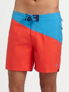 Swim time for Peter!  From Saks.com, Penguin Volley Swim Shorts/Two-Tone #SaksLLTrip