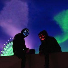The Light Up Mask - LED Mask - Neon Mask - Purge Mask - Stitches Mask - Rave Mask - Photo shoots - Light Photography - Night Photography Graffiti Wallpaper Iphone, Flash Wallpaper, Neon Wallpaper, Unique Wallpaper, Cute Wallpaper Backgrounds, Light Up Face Mask, Light Mask, Halloween Tumblr, Halloween Costumes For Teens