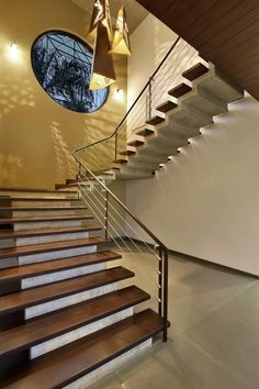 Lambhvella House by Dipen Gada & Associates redefines the definition of Indian contemporary architecture Railing Design, Staircase Design, Stair Design, Staircase Ideas, Home Room Design, Home Design Plans, Dipen Gada, Shell House, Concrete Houses
