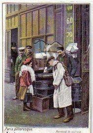 Des petits métiers à Paris en 1900, marchande de marrons